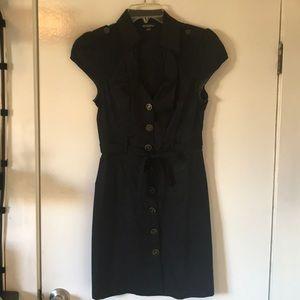 Guess black mini dress. Low cut!